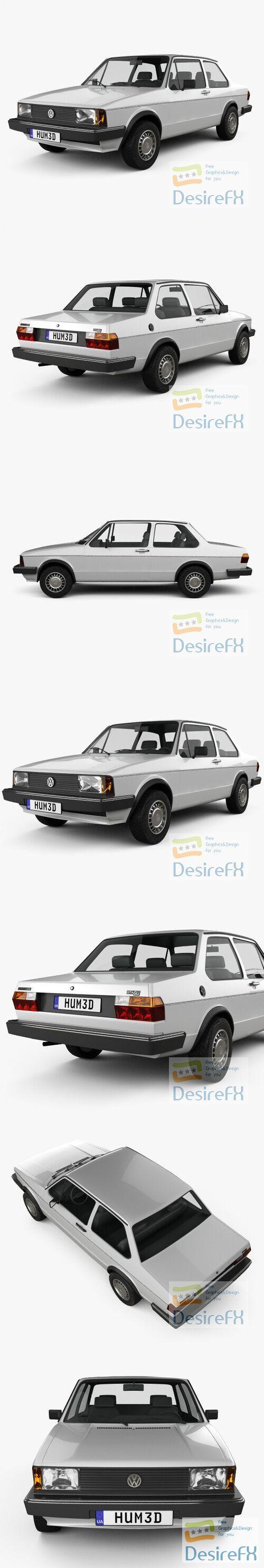 Volkswagen Jetta 2-door 1979 3D Model