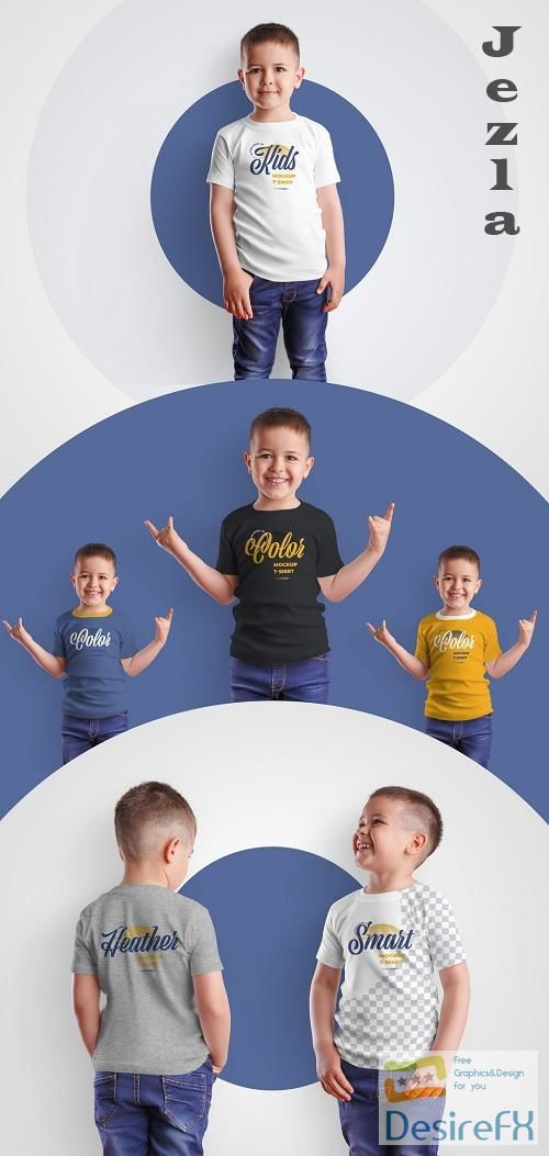 4 Kids T-Shirt Mockups for Boys 370583319