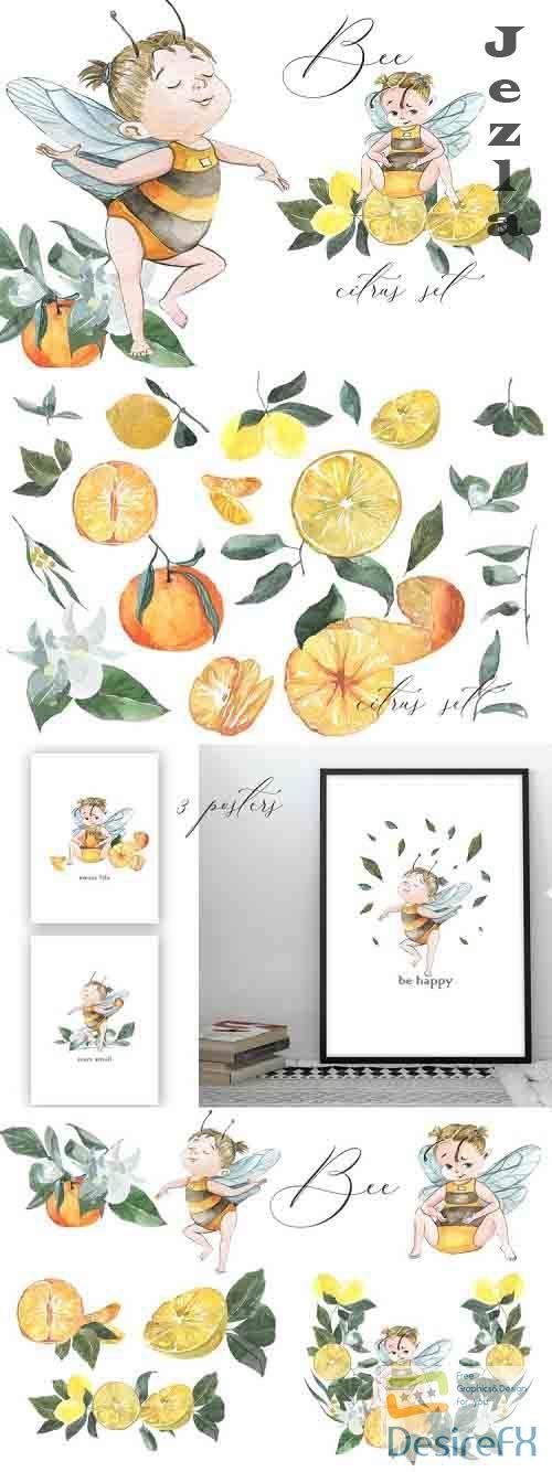 Bee. Citrus set - 804320