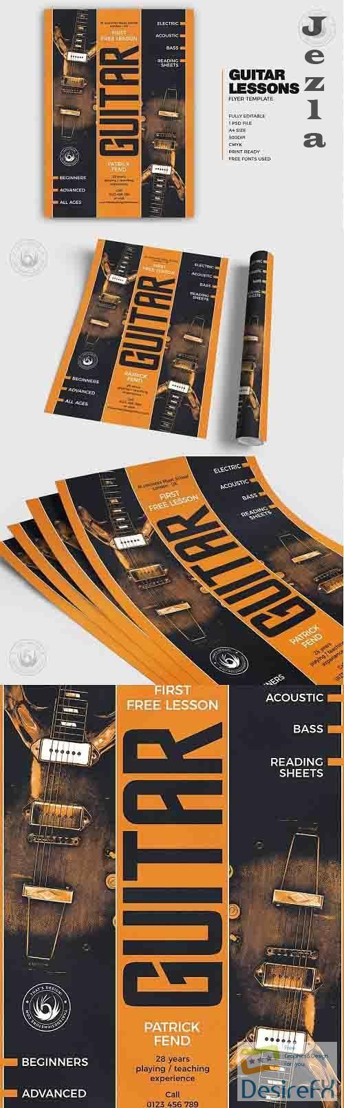 Guitar Lessons Flyer Template V6 - 524517