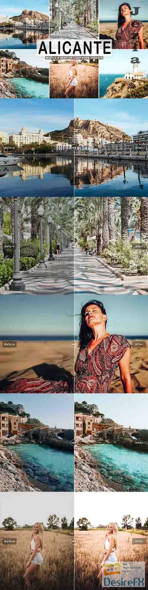 Alicante Lightroom Presets Pack - 5277757 - Mobile & Desktop