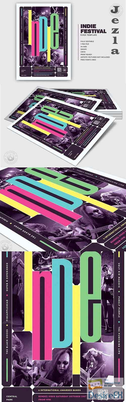 Indie Fest Flyer Template V10 - 5340976