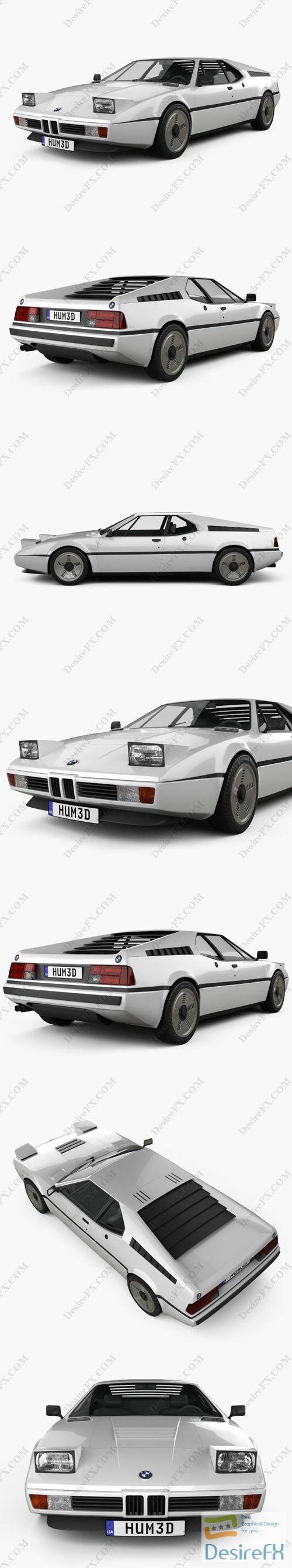BMW M1 1978 3D Model