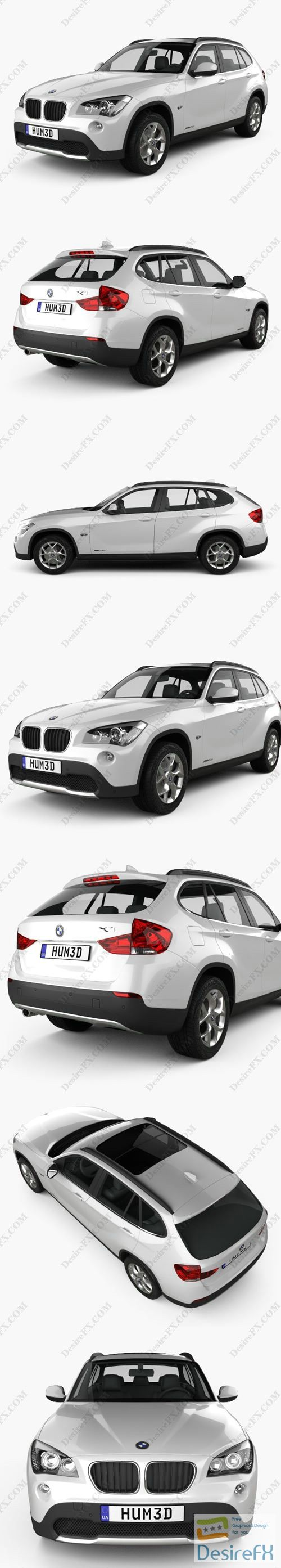 BMW X1 2010 3D Model