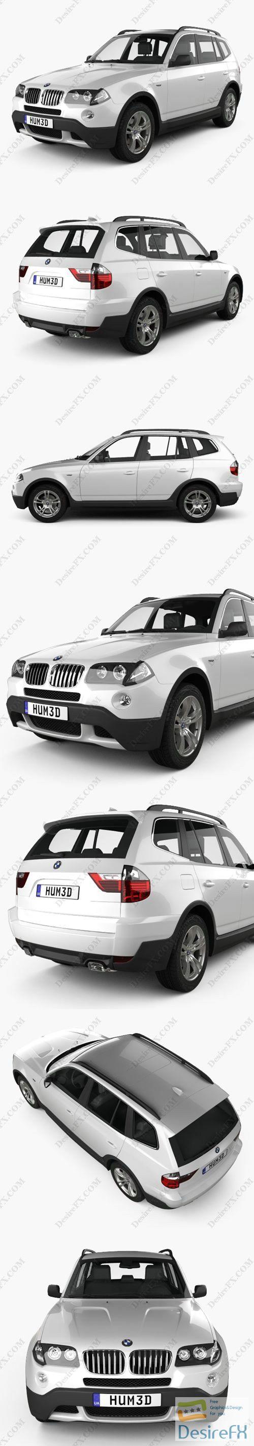 BMW X3 2003 3D Model