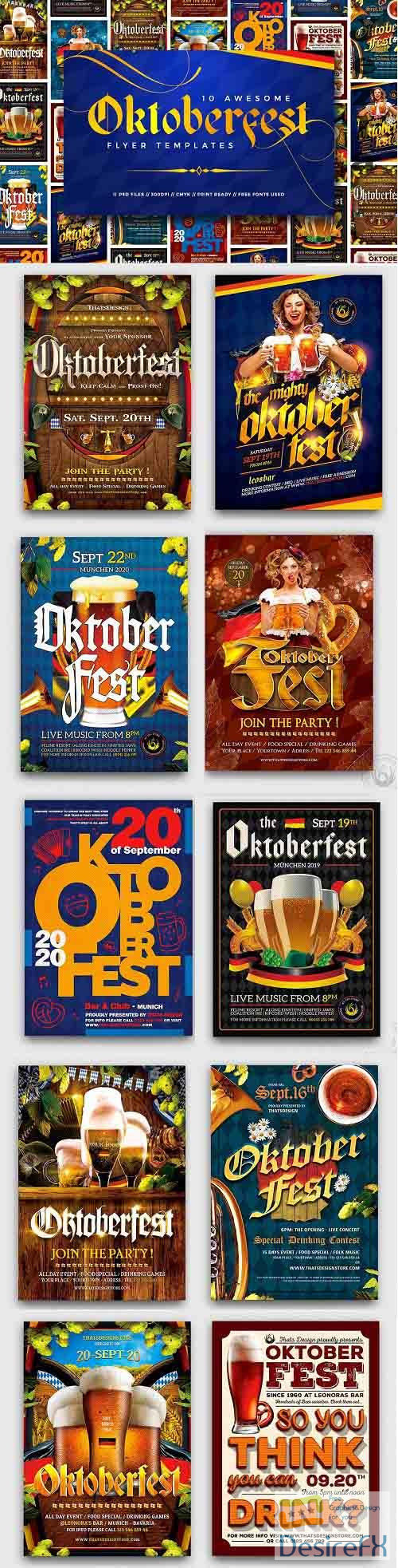 10 Oktoberfest Flyers Bundle - 5288118