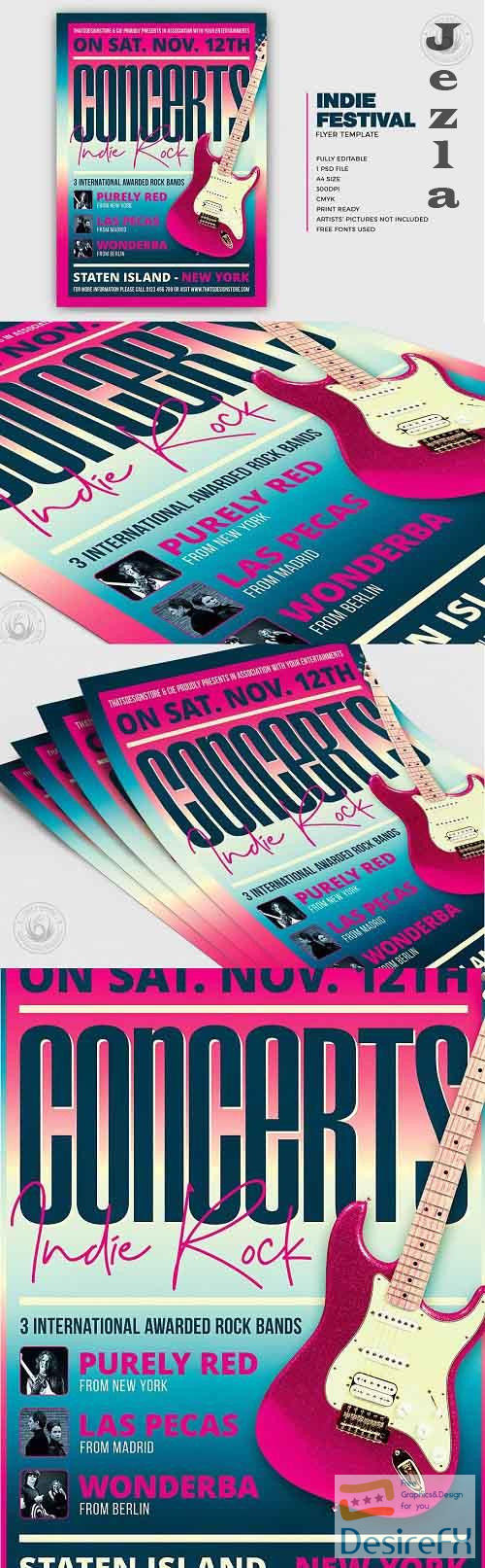 Indie Fest Flyer Template V9 - 5317934