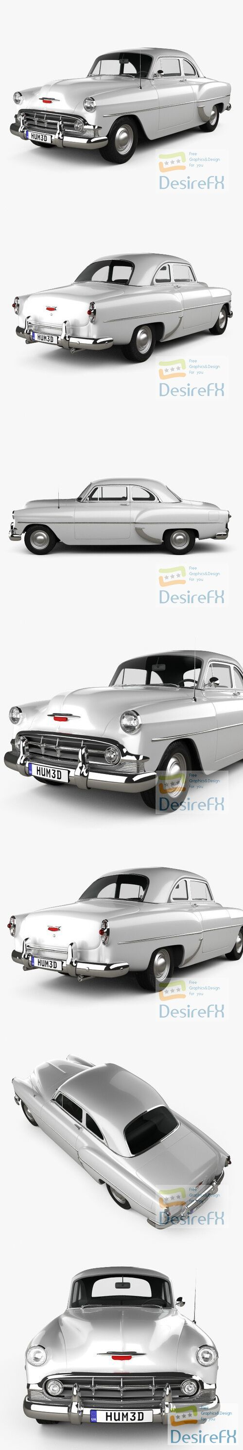 Chevrolet 210 Club Coupe 1953 3D Model