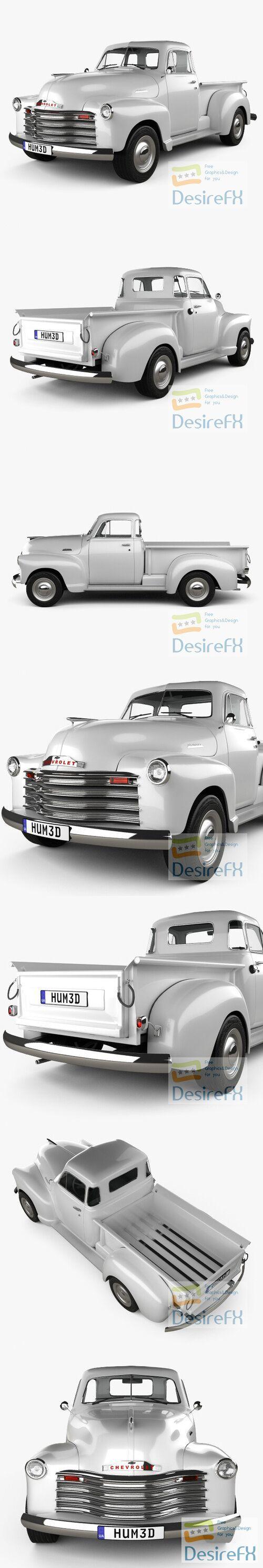 Chevrolet Advance Design Pickup 1951 3D Model