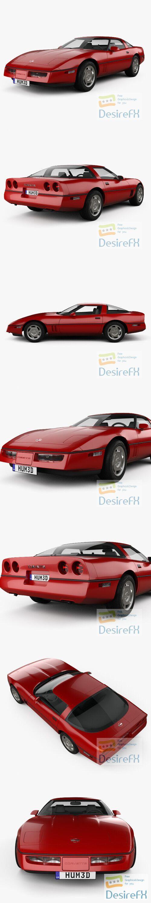 Chevrolet Corvette coupe 1983 3D Model