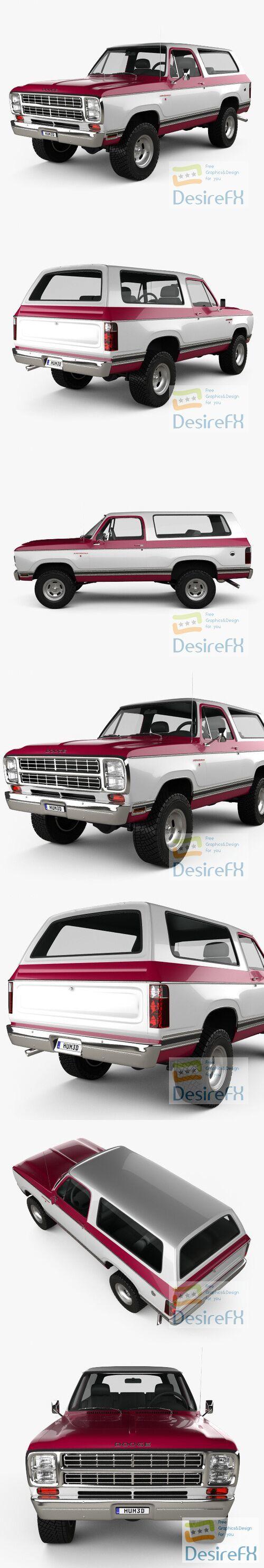 Dodge Ramcharger 1979 3D Model