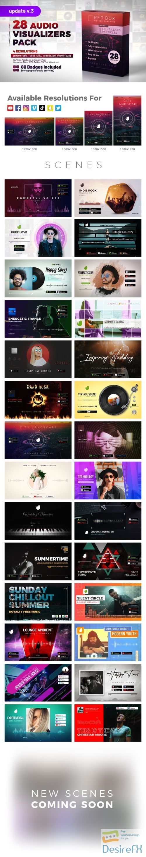 Videohive Audio Visualizers Pack V2 27144986