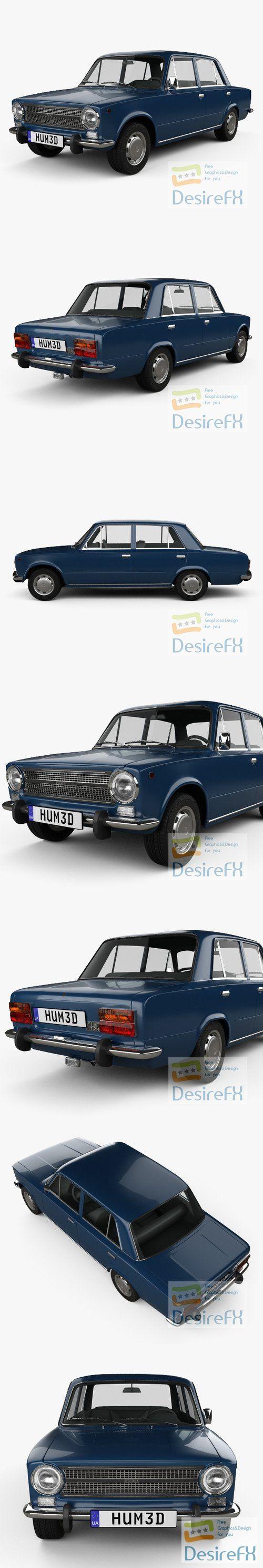 Fiat 124 1972 3D Model