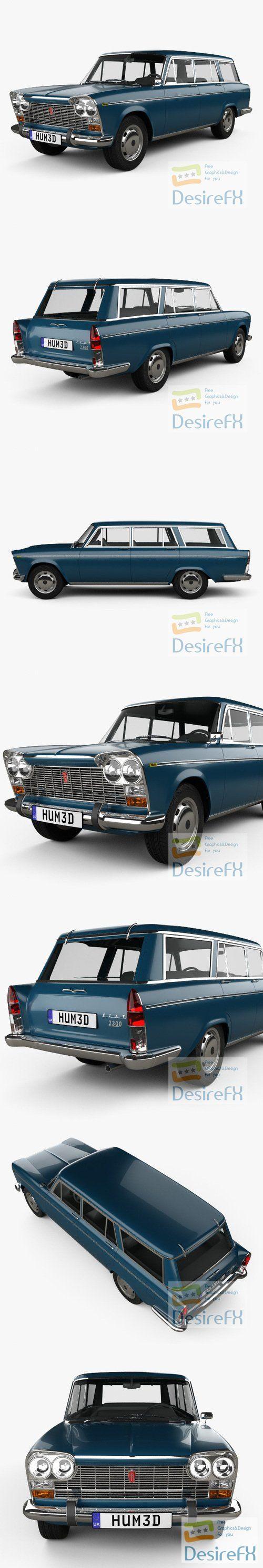 Fiat 2300 Familiare 1963 3D Model