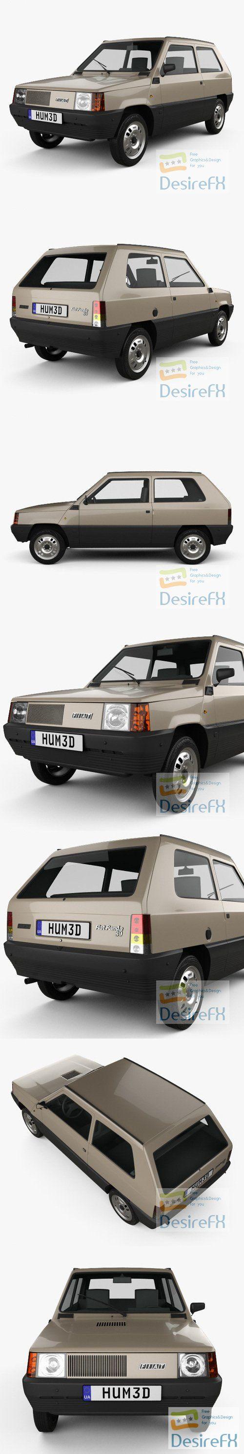 Fiat Panda 30 1980 3D Model