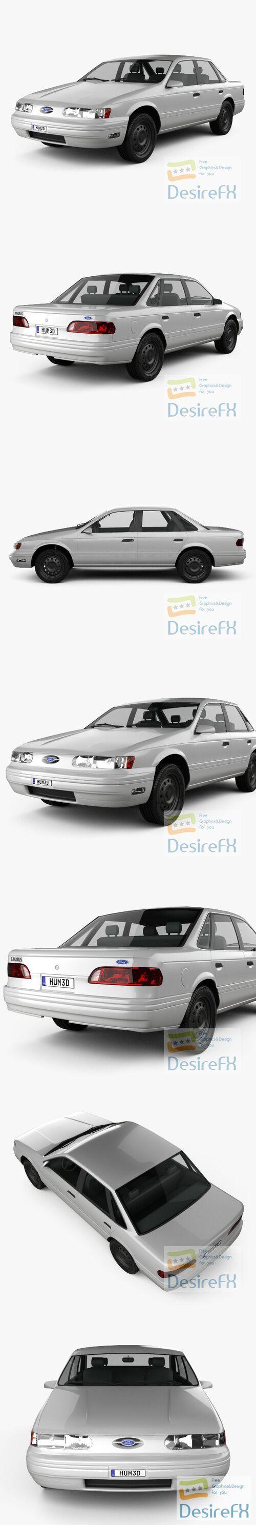 Ford Taurus 1992 3D Model