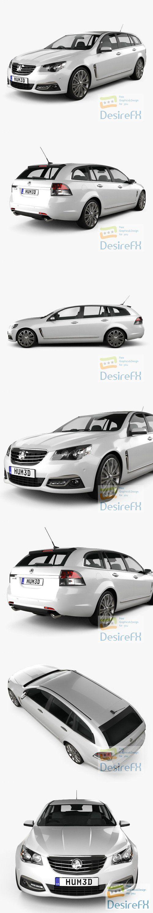 Holden VF Commodore Calais V sportwagon 2013 3D Model