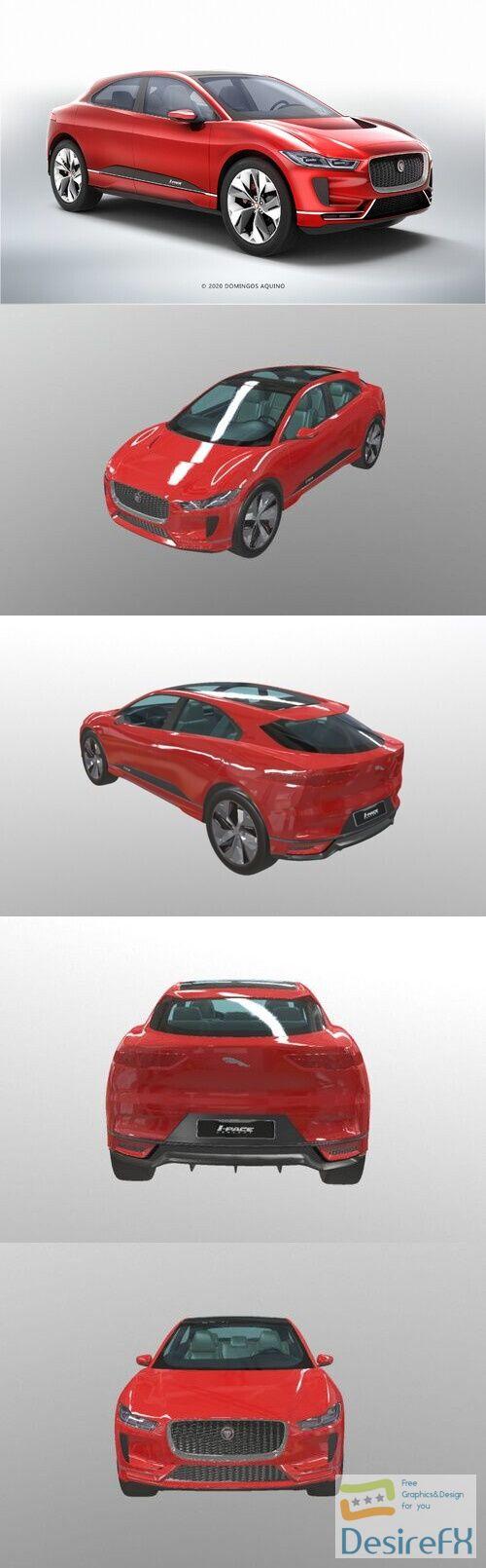 Jaguar I-Pace 2020 3D Model