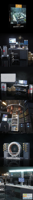 kitbash3d Props Secret Labs 3D Model