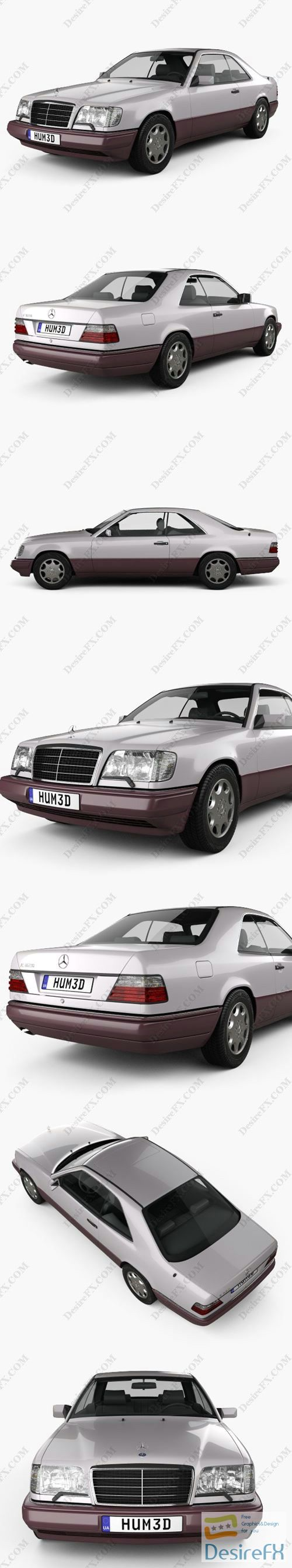 Mercedes-Benz E-class coupe 1993 3D Model