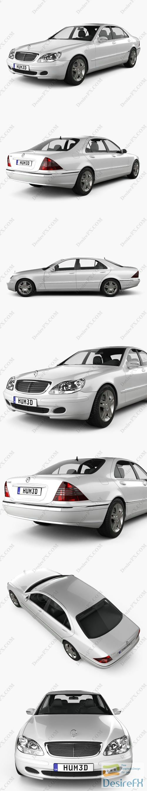 Mercedes-Benz S-class 2003 3D Model