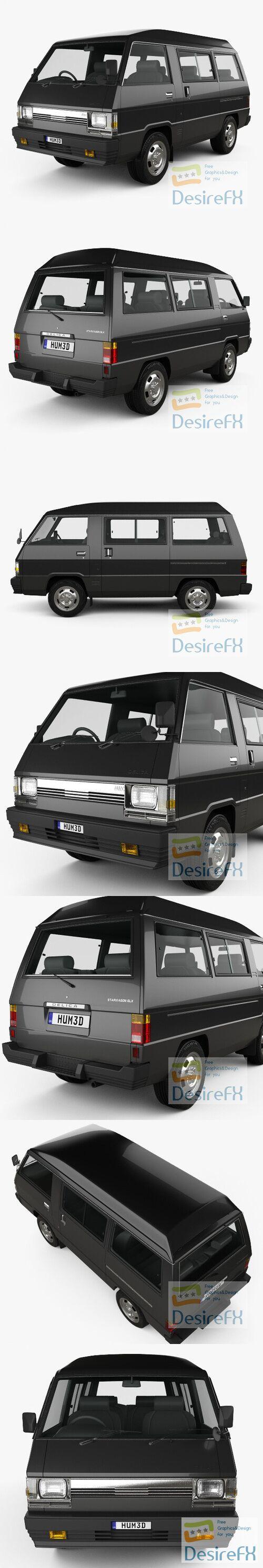 Mitsubishi Delica Star Wagon 4WD GLX 1982 3D Model