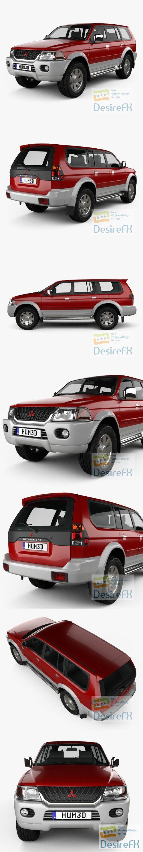 Mitsubishi Pajero Sport 1996 3D Model
