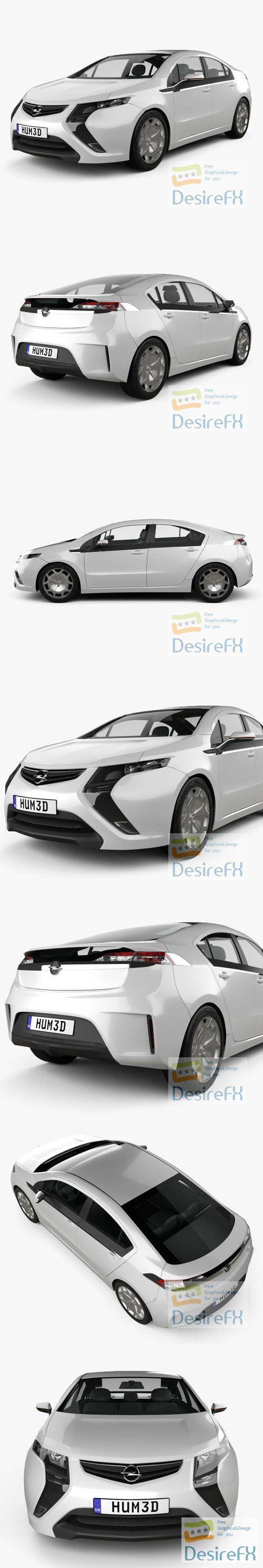 Opel Ampera 2011 3D Model