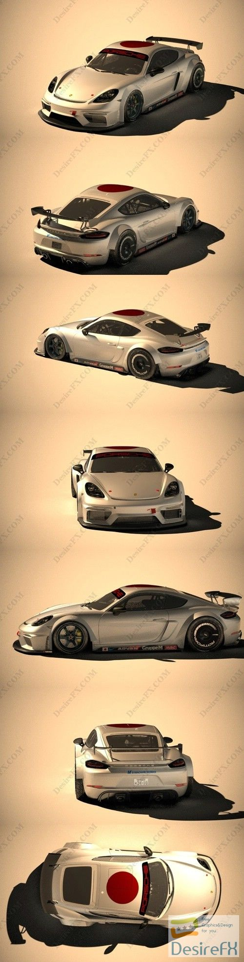 Porsche 718 Cayman GT4 Clubsport 2019 3D Model