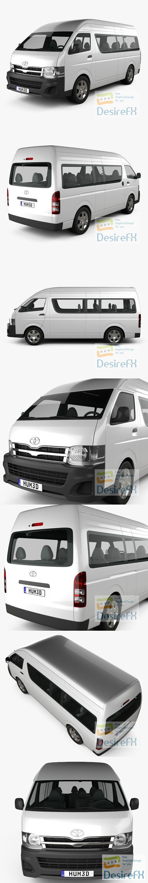 Toyota HiAce Super Long Wheel Base 2012 3D Model