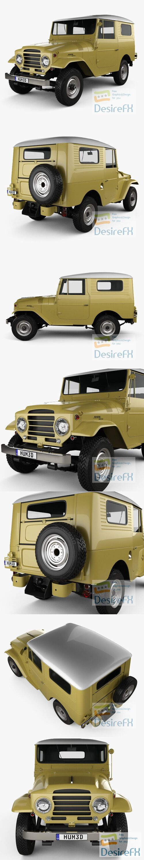 Toyota Land Cruiser hardtop 1955 3D Model