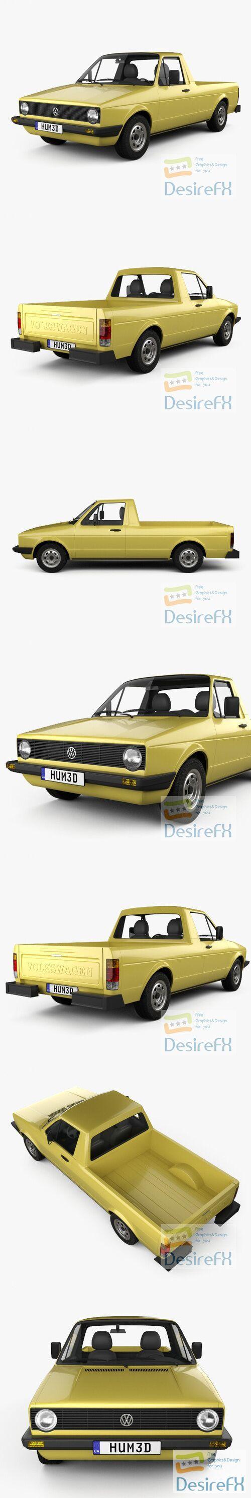 Volkswagen Caddy 1982 3D Model