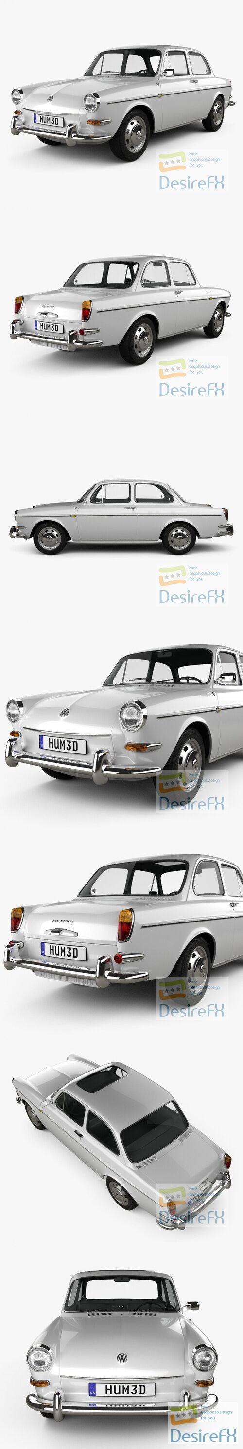 Volkswagen Type 3 sedan 1965 3D Model