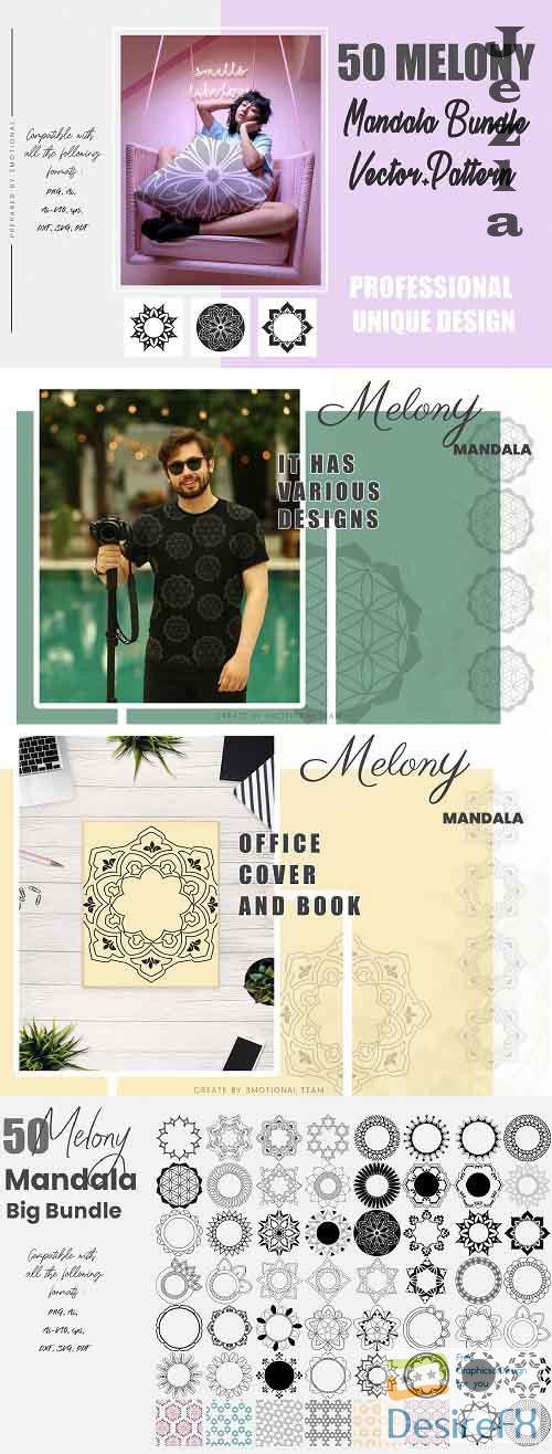 50 Melony Mandala Bundle, Mandala vector - 5270871 - 877399