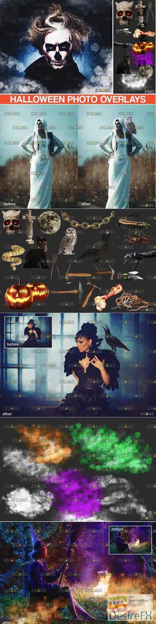 Photoshop overlay & Halloween clipart pumpkin clipart - 895371