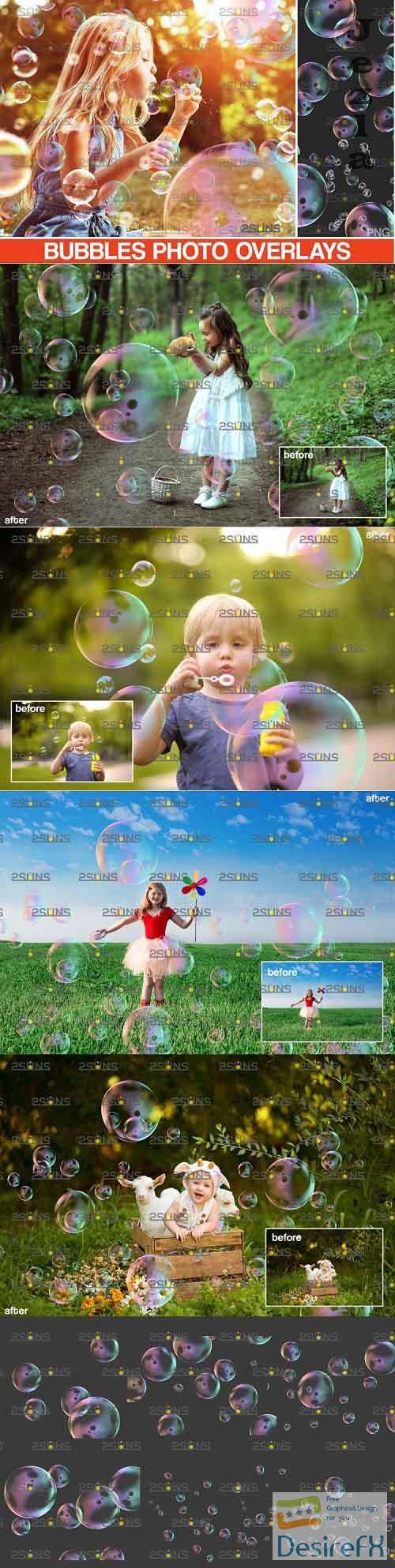 30 Photoshop overlay Bubble overlays, Soap bubbles - 895339