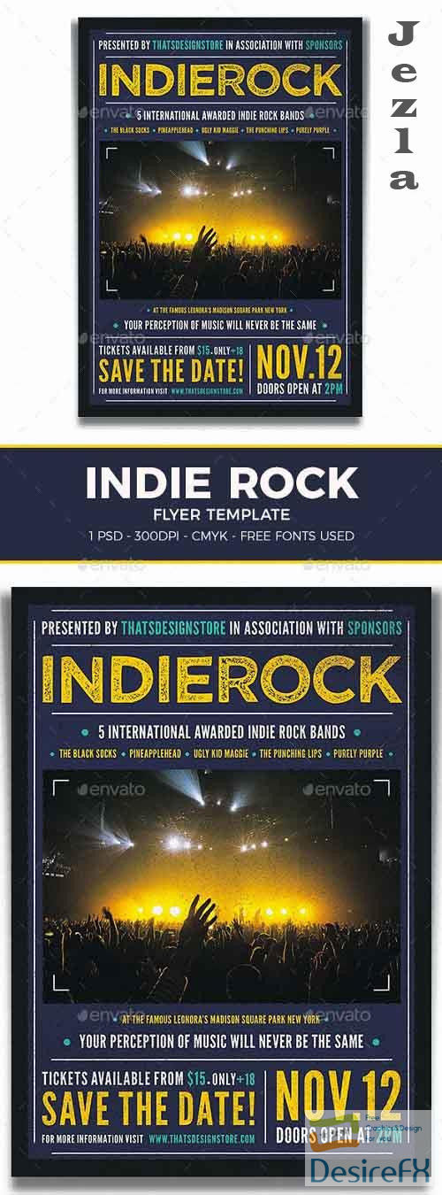 Indie Rock Flyer Template V1 - 19130024 - 1095668