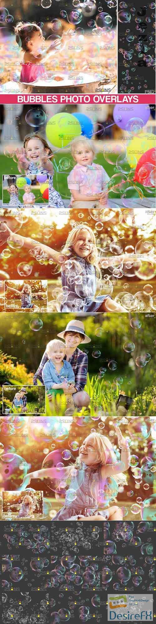 30 Photoshop overlay Bubble overlays, Soap bubbles - 895343