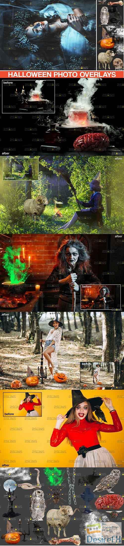 Photoshop overlay & Halloween clipart pumpkin clipart - 895935