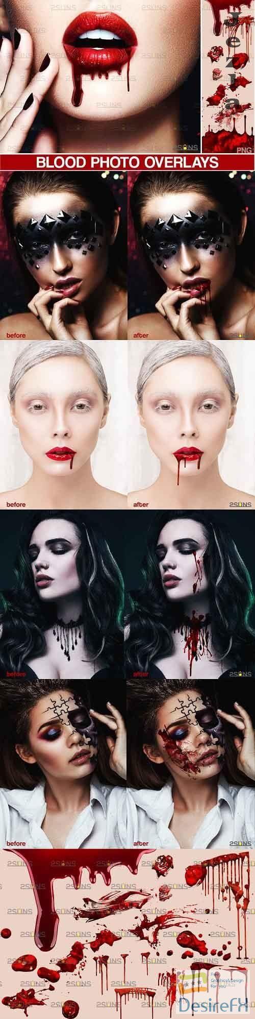 Blood Photo Overlay, Halloween overlay, blood splatter - 895778