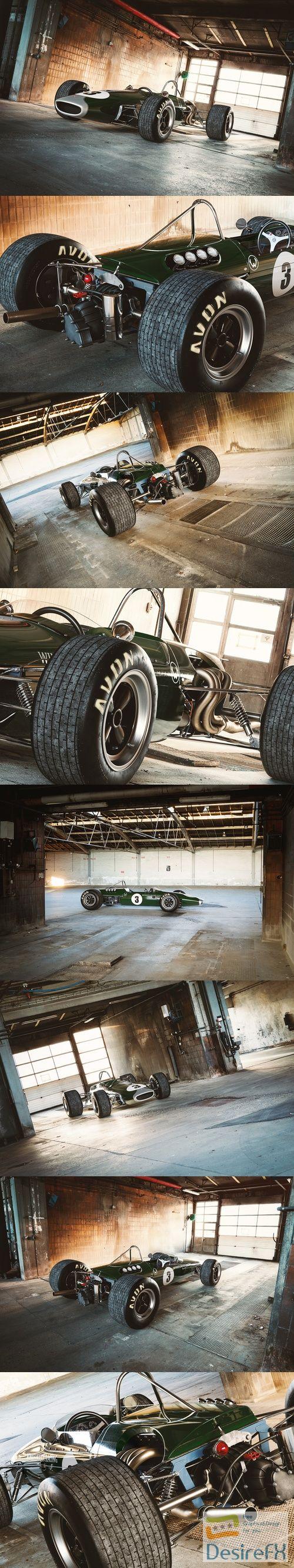 Brabham racing car 3D Model