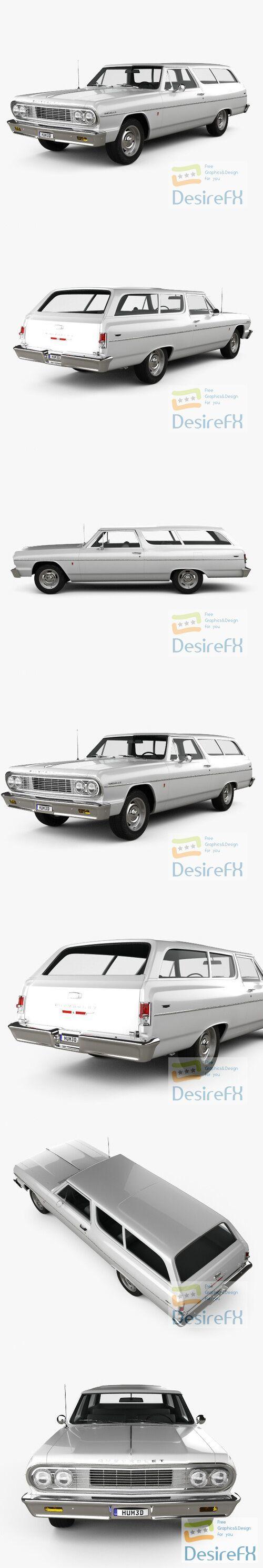 Chevrolet Chevelle 2-door wagon 19643D Model