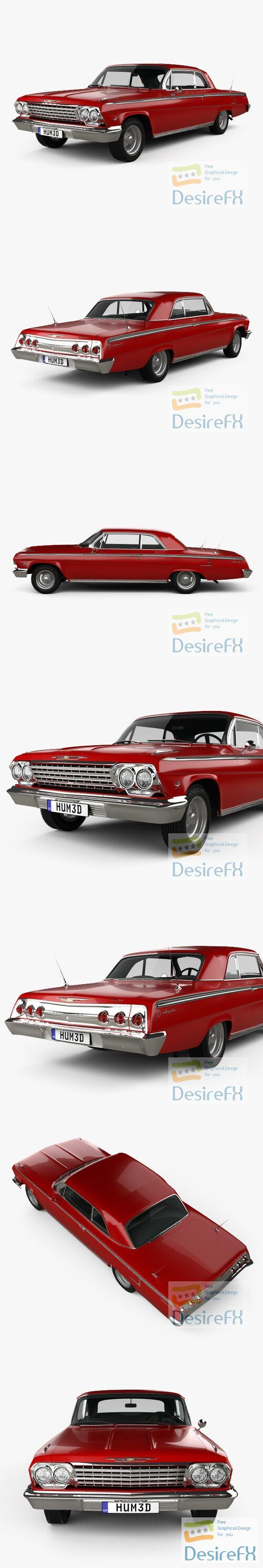 Chevrolet Impala SS 409 1962 3D Model