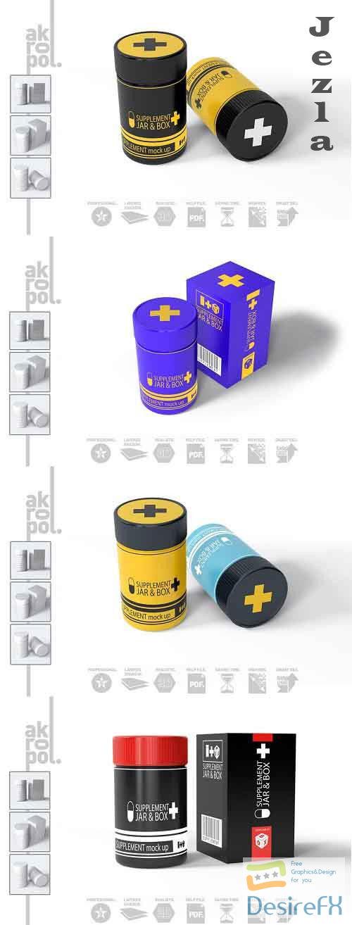 Supplement Jar & Box Mock-Up 1949505