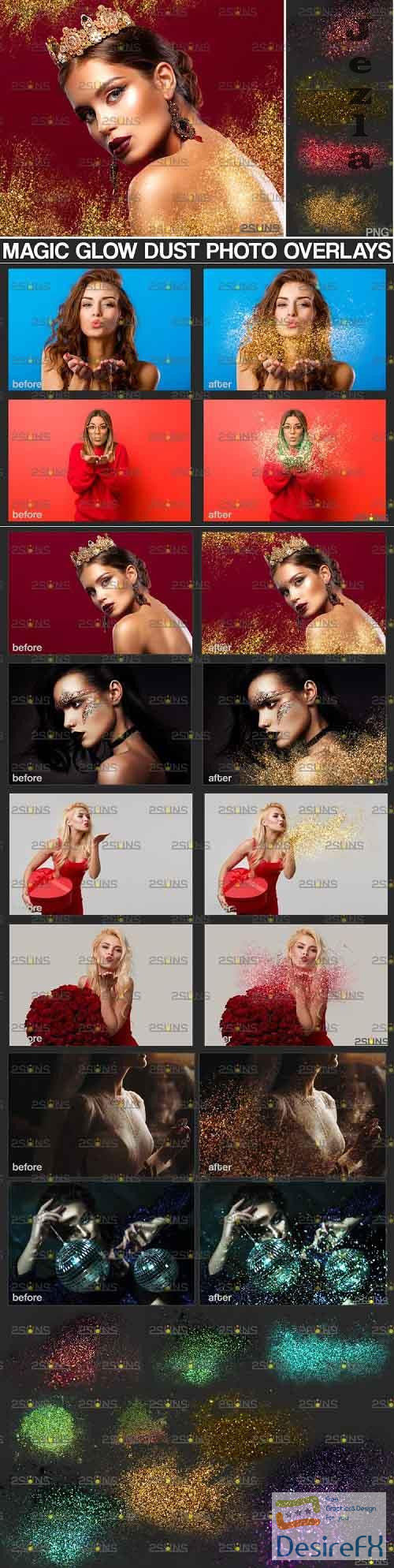 Blowing glitter overlay & Photoshop overlay - 895349
