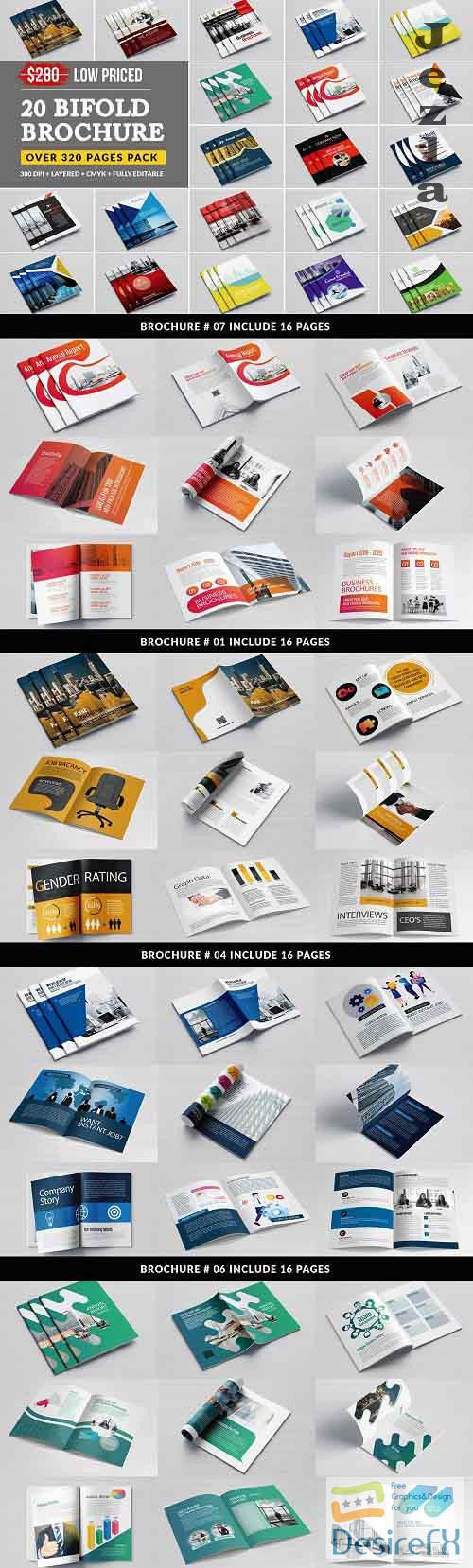 Business Bifold Bundle 20 Template 5207635
