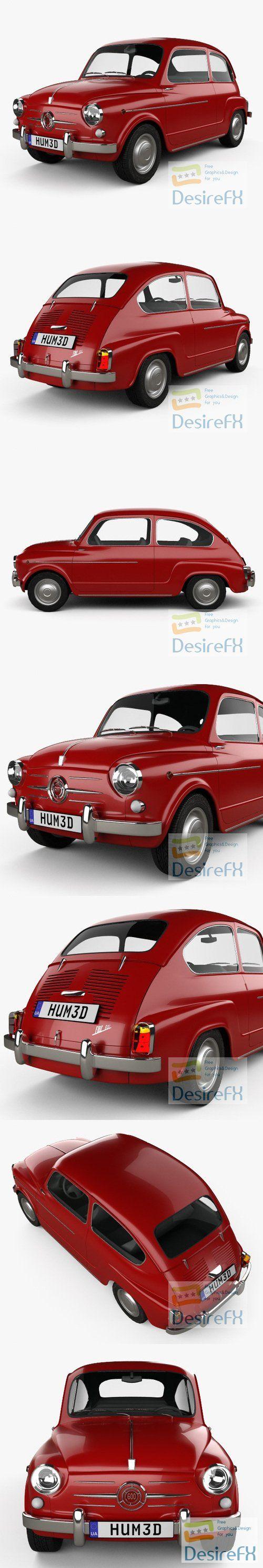 Fiat 600 D 1960 3D Model