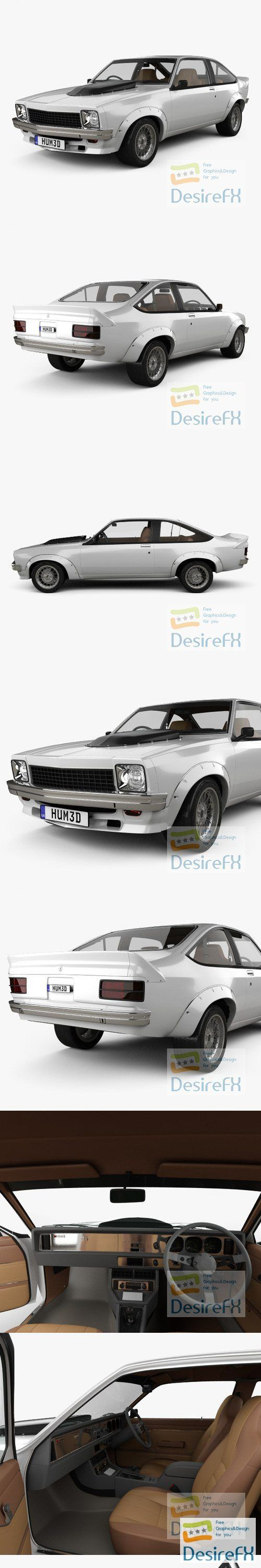 Holden Torana with HQ interior 1977 3D Model