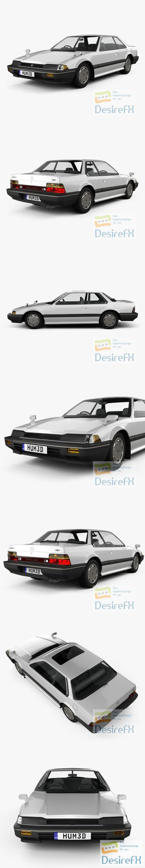 Honda Prelude 1983 3D Model