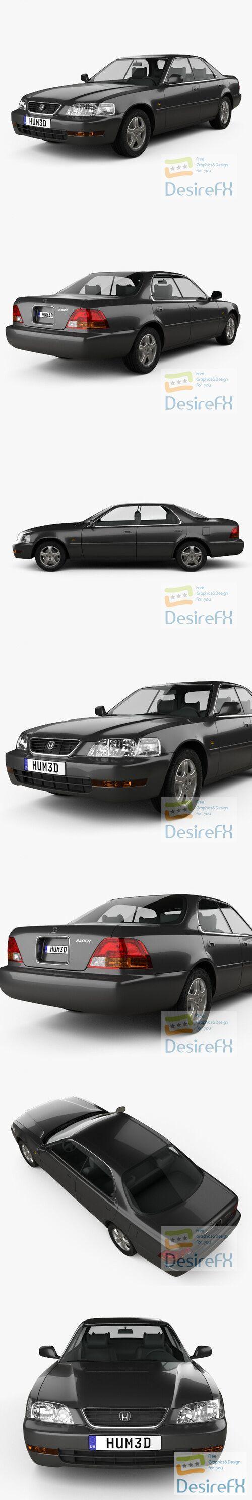 Honda Saber 1995 3D Model